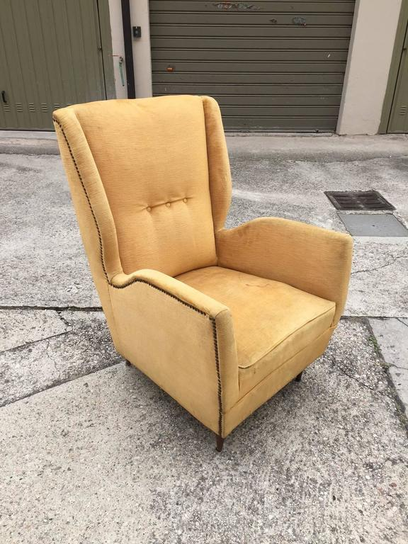 Italian Pair of Armchairs, Design Gio Ponti, 1950 For Sale