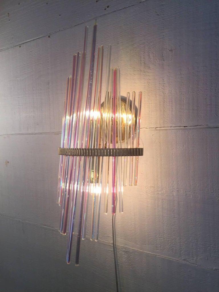 Italian Pair of Wall Lamps, Design, Sciolari, 1960 For Sale