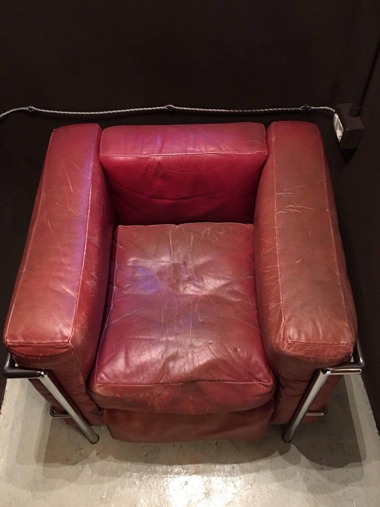 Late 20th Century Paire de fauteuils, Design Le Corbusier, 1970 Cassina For Sale