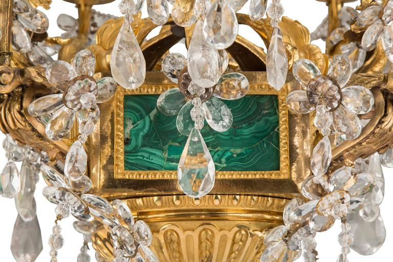 French 19th Century Louis Xvi St Rock Crystal Ormolu And