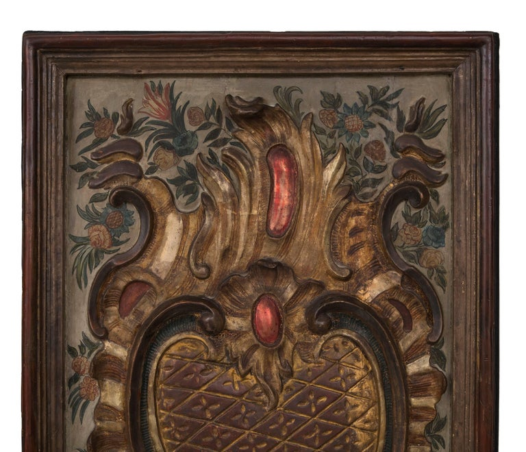 Pair of Italian Early 19th Century Baroque St. Carved Decorative Panels For Sale 1