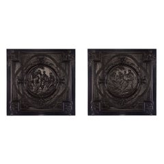 Pair of Flemish 17th Century Renaissance Period Carved Panels in Ebony
