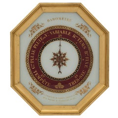 French Early 19th Century Charles X Period Giltwood Barometer by Gohin