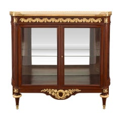 French 19th Century Louis XVI Style Belle Époque Period Cabinet Vitrine