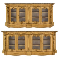 Pair of Italian 19th Century Venetian Style Giltwood Vitrines