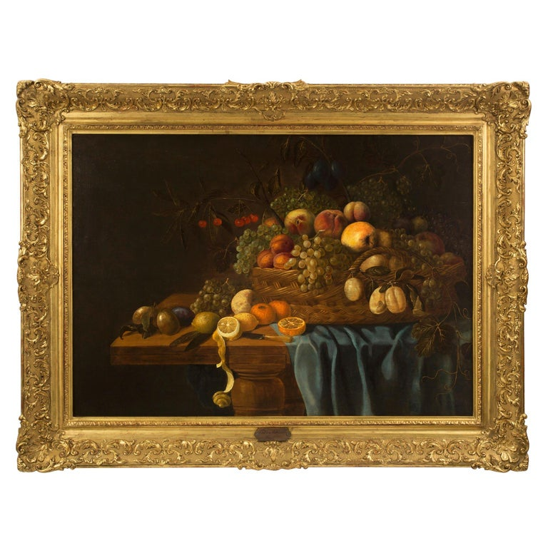 Dutch 17th Century Painting Signed Carel Van Hullegarden, 1653 For Sale