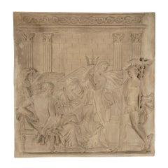 French 19th Century Neo-Classical St. Plaster Plaque