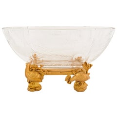French 19th Century Louis XVI St. Belle Époque Period Baccarat Crystal Bowl