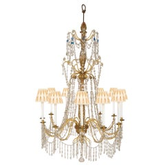 Italian, 18th Century Giltwood and Gilt Iron Chandelier