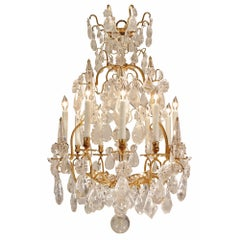French Mid 18th Century Louis XV Period Rock Crystal and Ormolu Chandelier