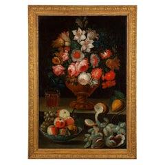 An Italian 17th Century Oil on Canvas Still Life, from Rome