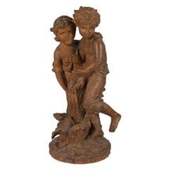 French Terracotta Fountain, Early 19th Century