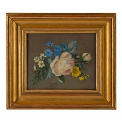 French 19th Century Signed Pastel, Dated 1873