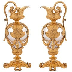Pair of French Mid-19th Century Renaissance Style Ewers