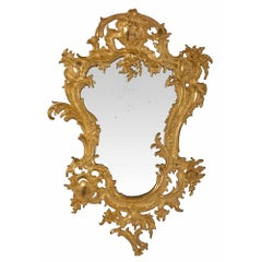French 19th Century Louis XV Style Ormolu Mirror with Its Original Mirror Plate
