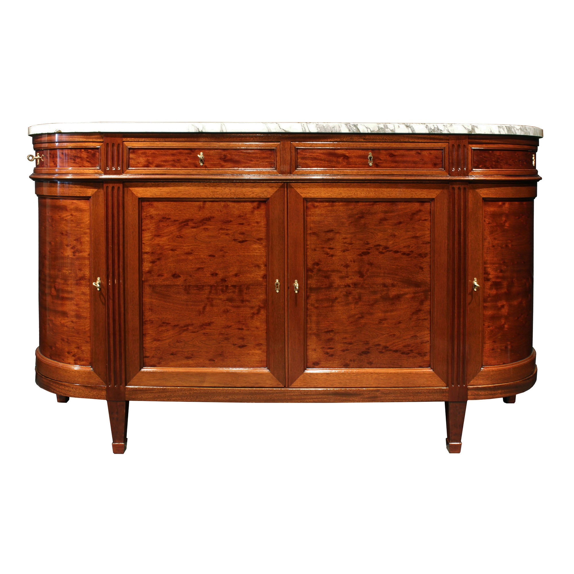 French 19th Century Louis XVI Style Mouchettte Mahogany Buffet