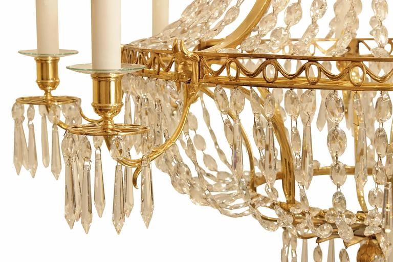 Pair Of 19th Century Neoclassical Style Ormolu And Crystal