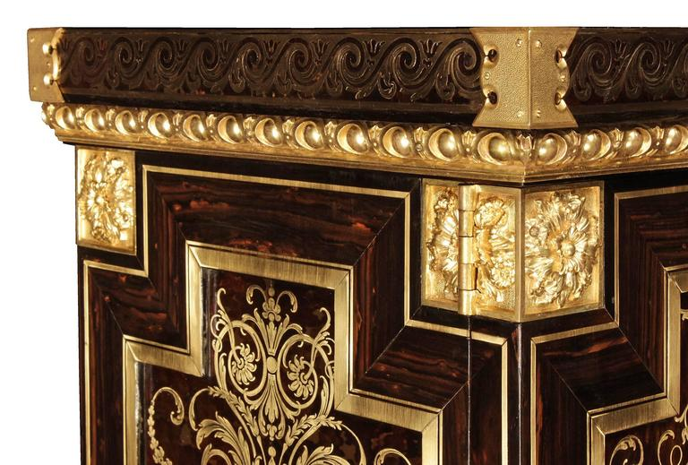 French 19th Century Louis XIV Style Boulle Cabinet For Sale 3