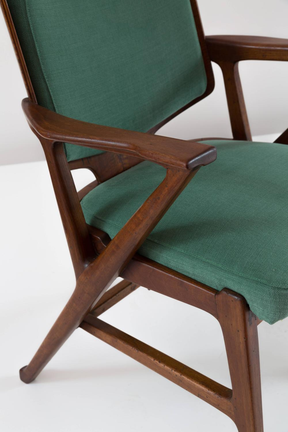 Impressive rare pair of armchairs by enrico ciuti for for Cassina spa meda
