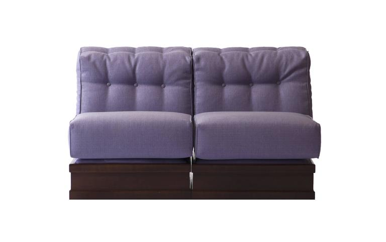 Fine And Elegant Mahogany Five Pieces Sofa By Luciano
