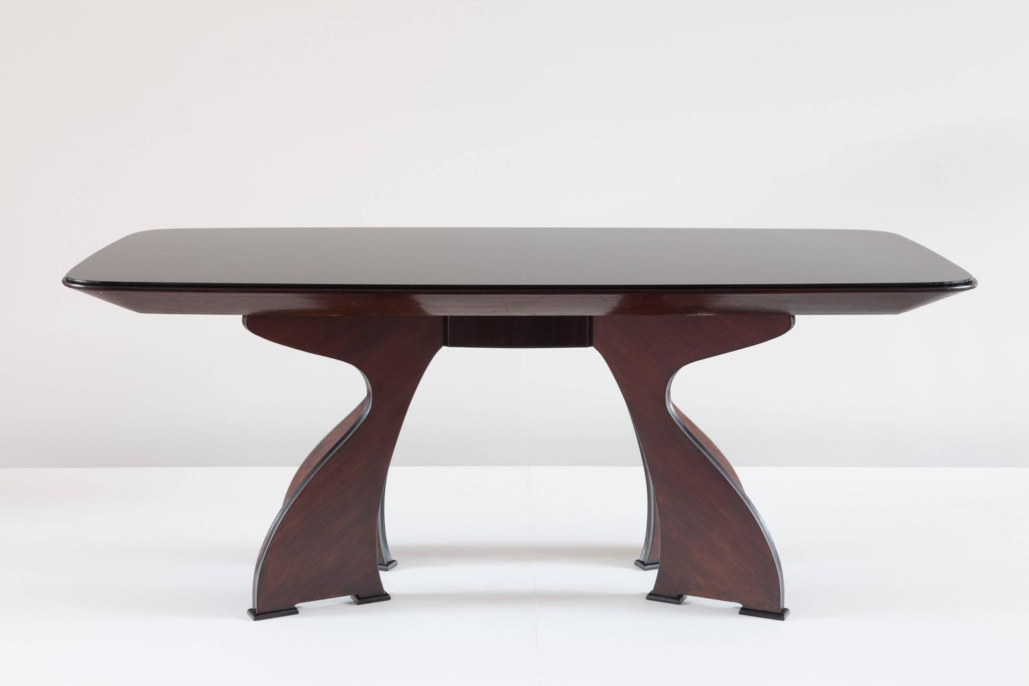 Stunning unique italian modern rosewood dining table for Unusual dining tables for sale