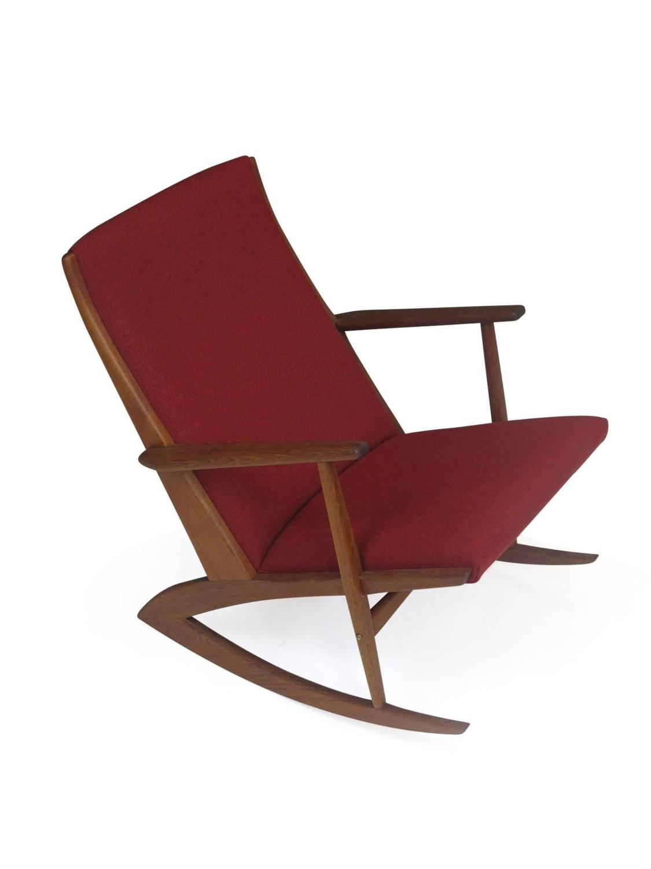 Soren Georg Jensen Mid-Century Danish Rocking Chair at 1stdibs