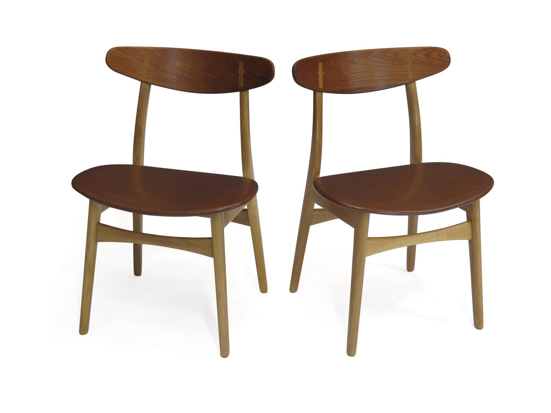 Six hans wegner ch30 dining chairs at 1stdibs for Wegner dining chair