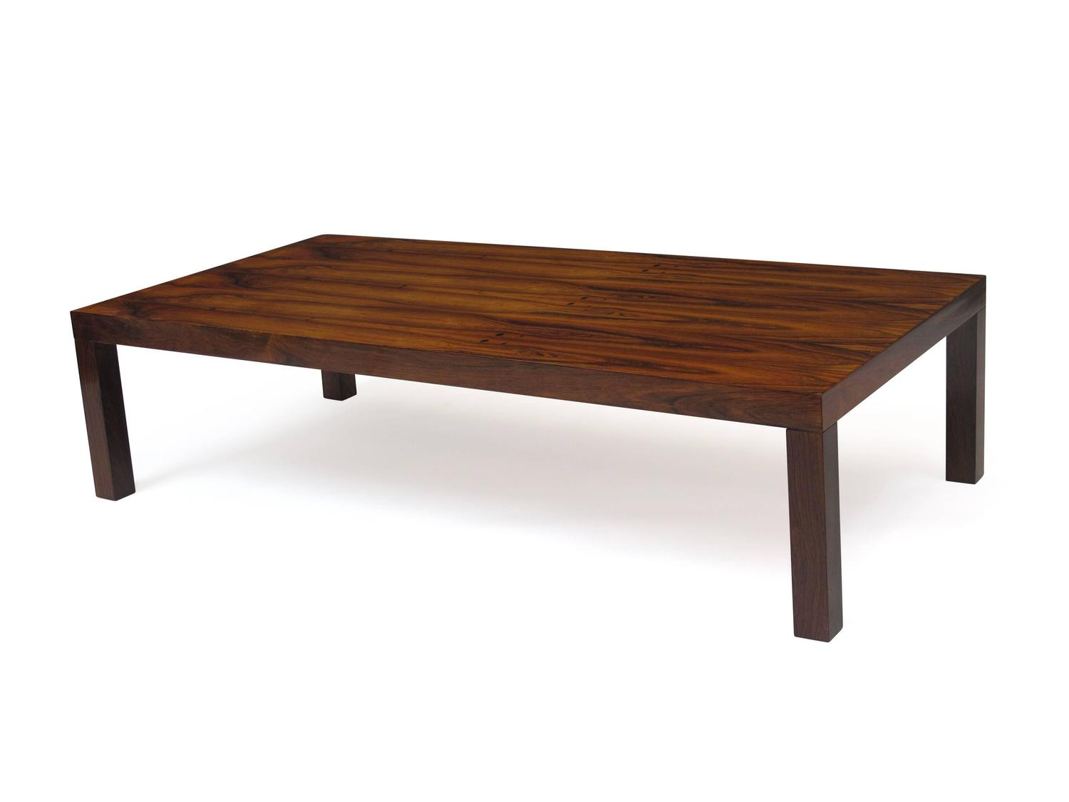 Midcentury Rosewood Parsons Coffee Table At 1stdibs