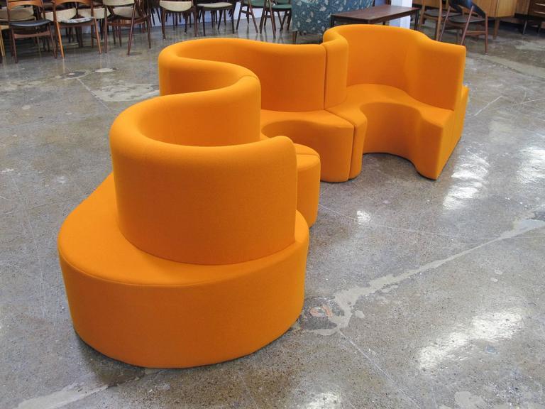 Verner Panton Cloverleaf Sofa In Orange For Sale At 1stdibs