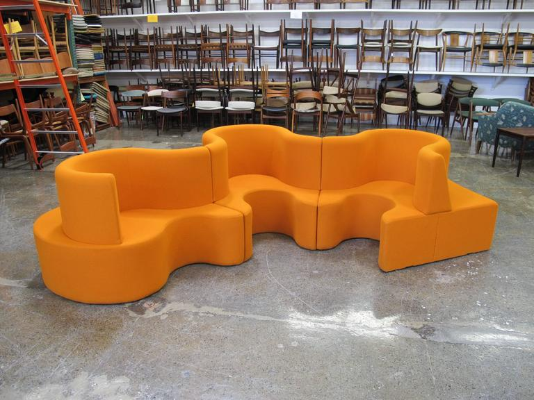 Verner Panton Cloverleaf Sofa In Orange For Sale At 1stdibs