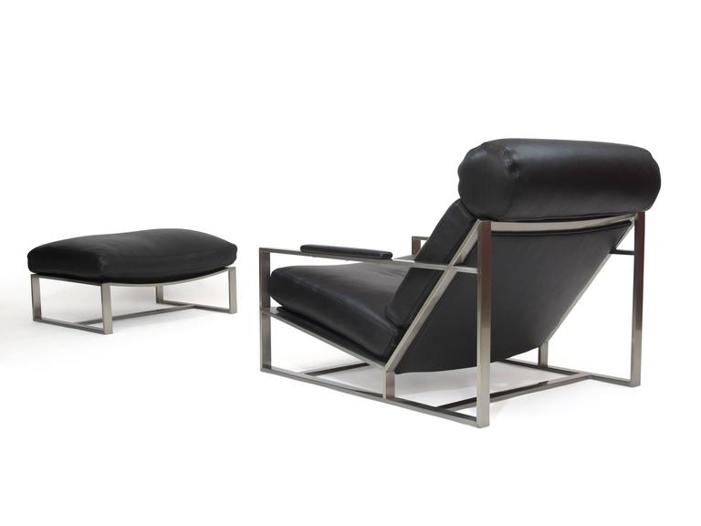 Milo Baughman For Thayer Coggin Steel Lounge Chair In