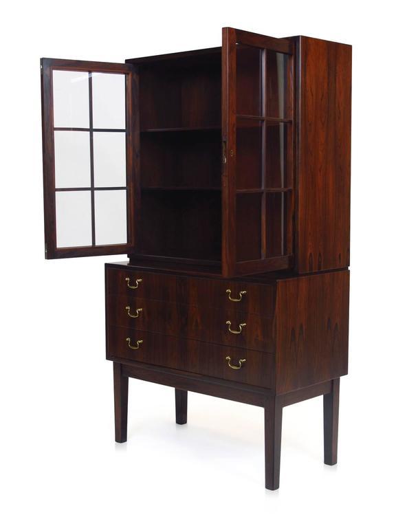 Ole Wanscher Danish Rosewood Curio Cabinet For Sale 3
