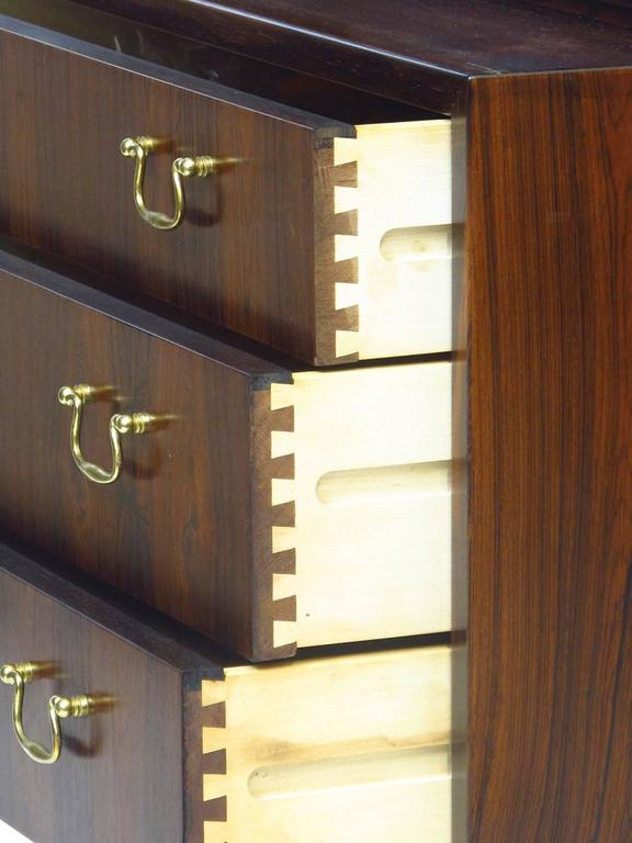 Ole Wanscher Danish Rosewood Curio Cabinet For Sale 2