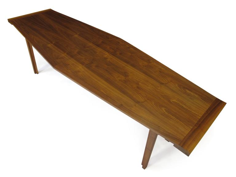 Walnut Long And Narrow Dining Table For Sale At 1stdibs