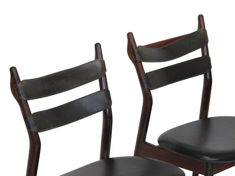 Scandinavian Modern Heldge Sibast Rosewood Dining Room Chairs For Sale