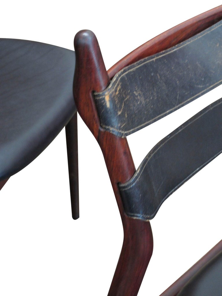 Danish Heldge Sibast Rosewood Dining Room Chairs For Sale