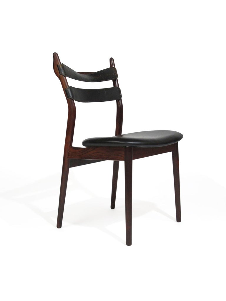 Heldge Sibast Rosewood Dining Room Chairs In Excellent Condition For Sale In Berkeley, CA