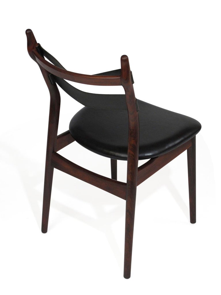Heldge Sibast Rosewood Dining Room Chairs For Sale 6