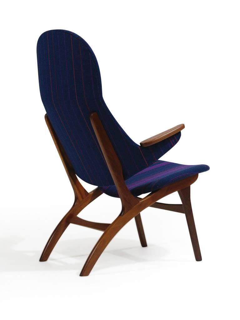 Mid Century Danish High Back Lounge Chair At 1stdibs