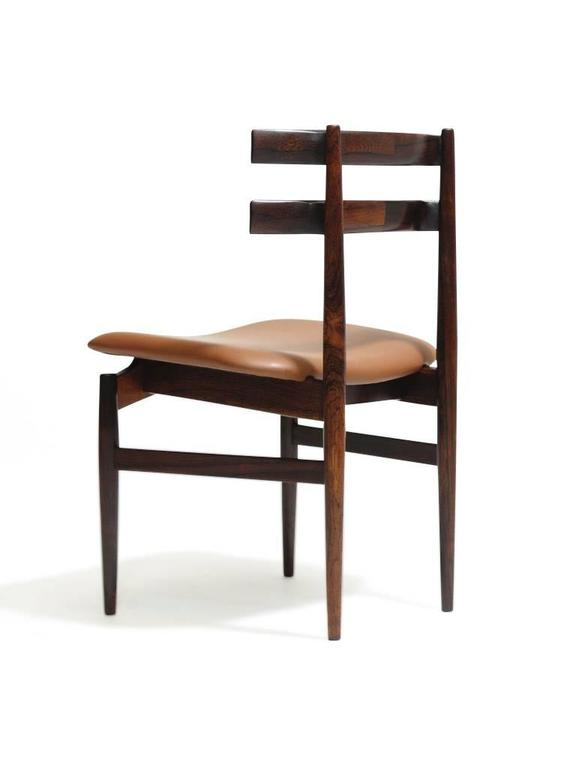 Danish Poul Hundevad Sculpted Rosewood Dining Chairs For Sale