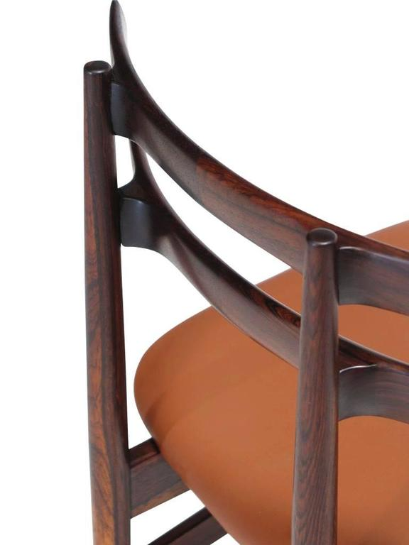 Poul Hundevad Sculpted Rosewood Dining Chairs For Sale 1
