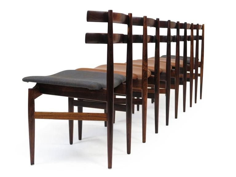 Poul Hundevad Sculpted Rosewood Dining Chairs For Sale 2