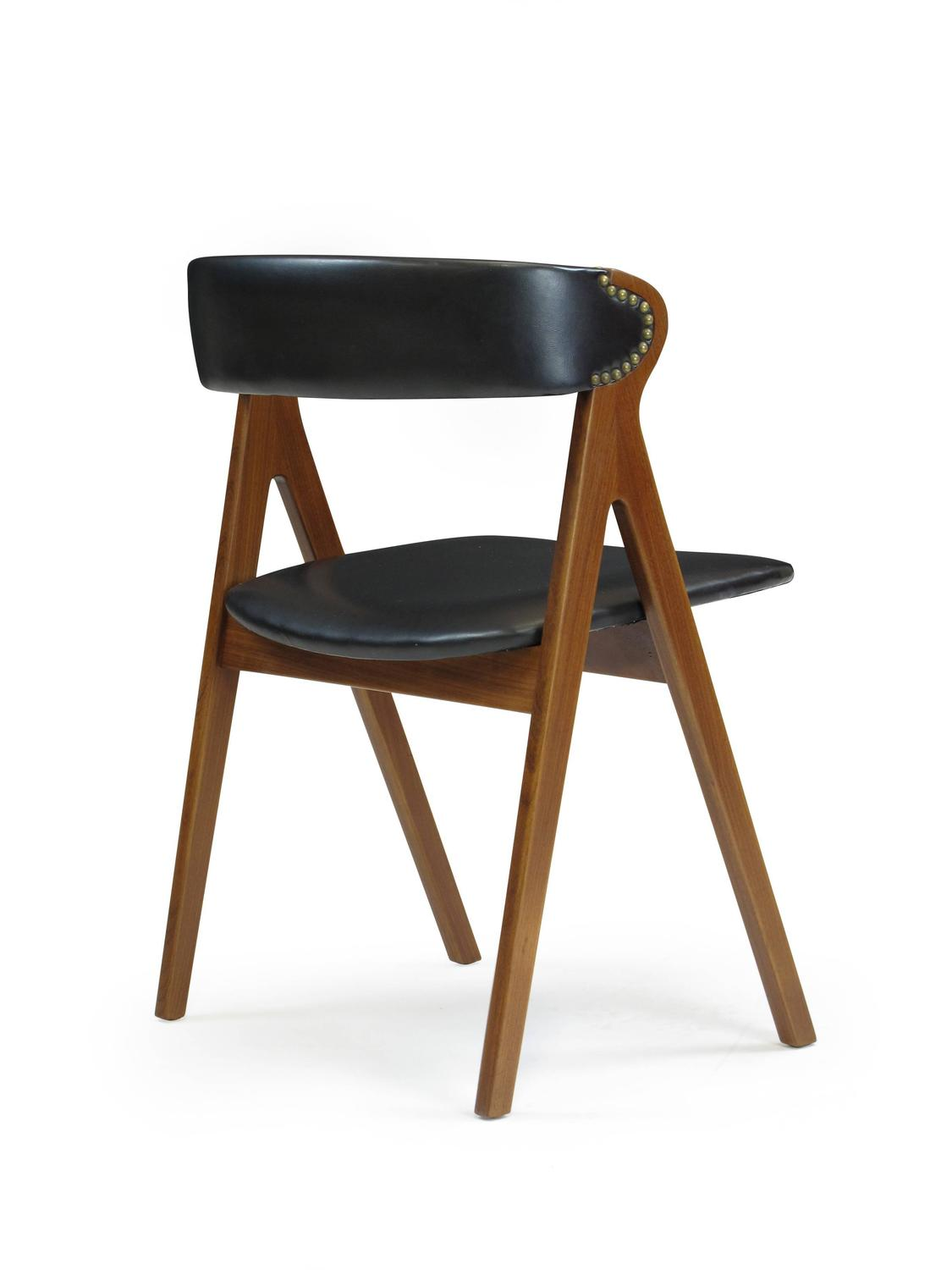 six midcentury walnut curved back dining chairs at 1stdibs