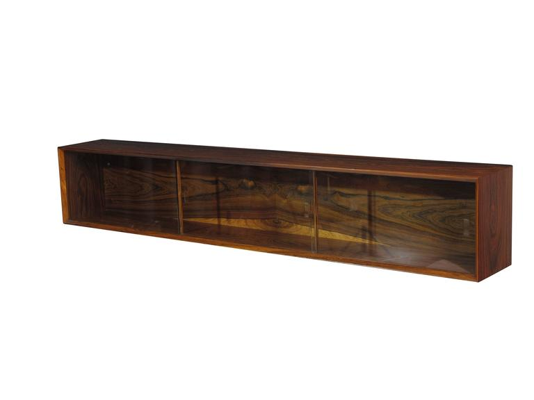 Danish Floating Credenza : Wall mounted floating credenza sideboard danish teak for