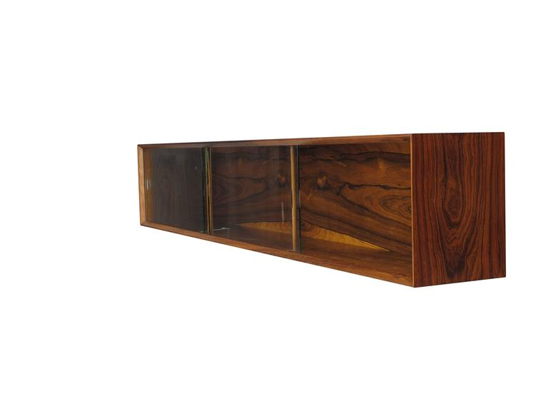 Danish Floating Credenza : Wall mount floating danish rosewood credenza at stdibs