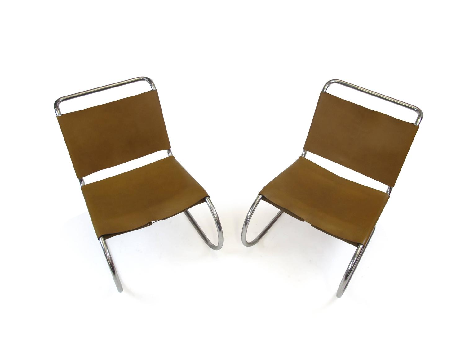 mies van der rohe mr lounge chairs for knoll at 1stdibs