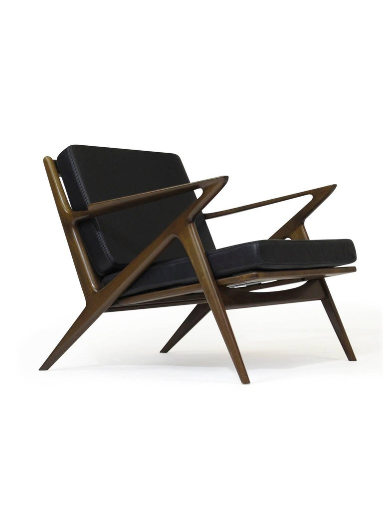 Pair of midcentury selig 39 z 39 lounge chairs by poul jensen for sale at 1stdibs - Selig z chair for sale ...