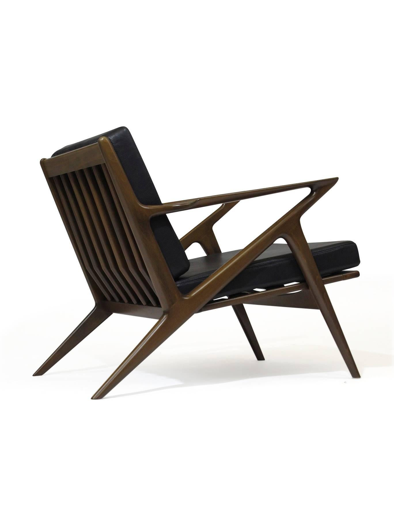 ... Selig Z Chair Dimensions By Pair Of Midcentury Selig Z Lounge Chairs By  Poul Jensen ...