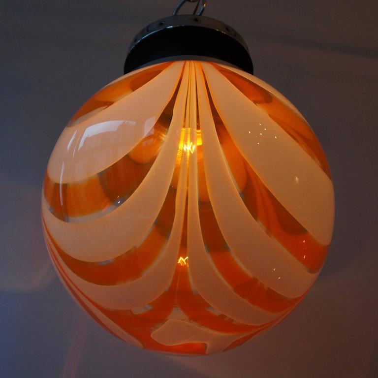 Mid-Century Modern Murano Glass Pendant Light For Sale