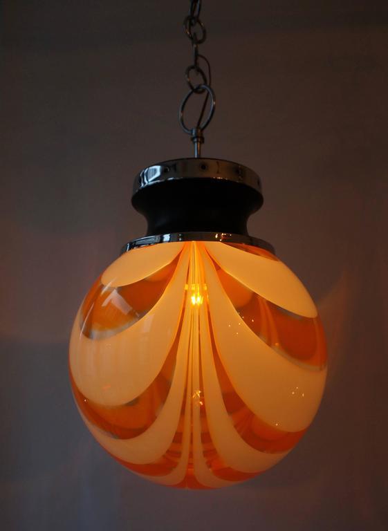 Murano Glass Pendant Light For Sale 1